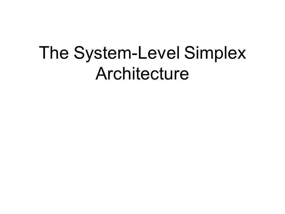 The System-Level Simplex Architecture Stanley Bak Olugbemiga Adekunle Deepti Kumar Chivukula Mu Sun Marco Caccamo Lui Sha