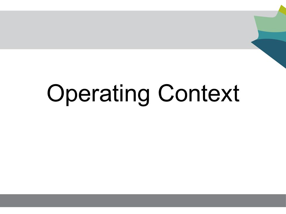 Operating Context