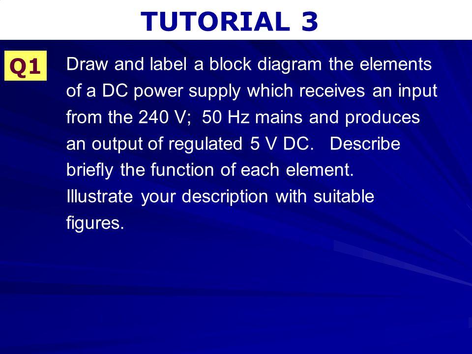 TUTORIAL 3 – VOLTAGE REGULATORS Solution
