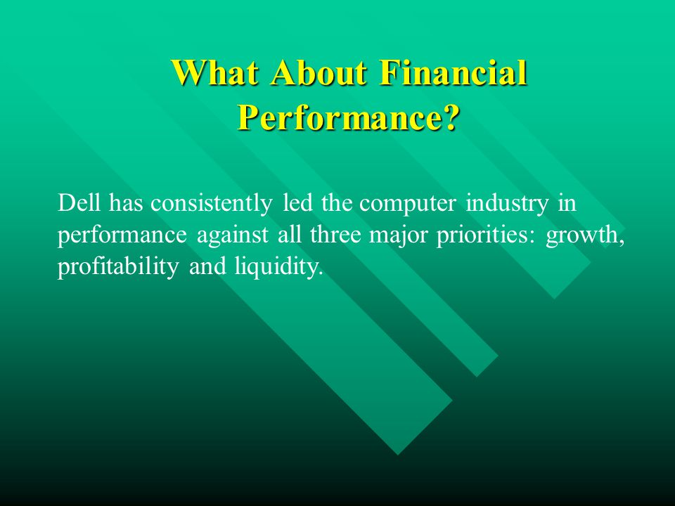 What About Financial Performance.
