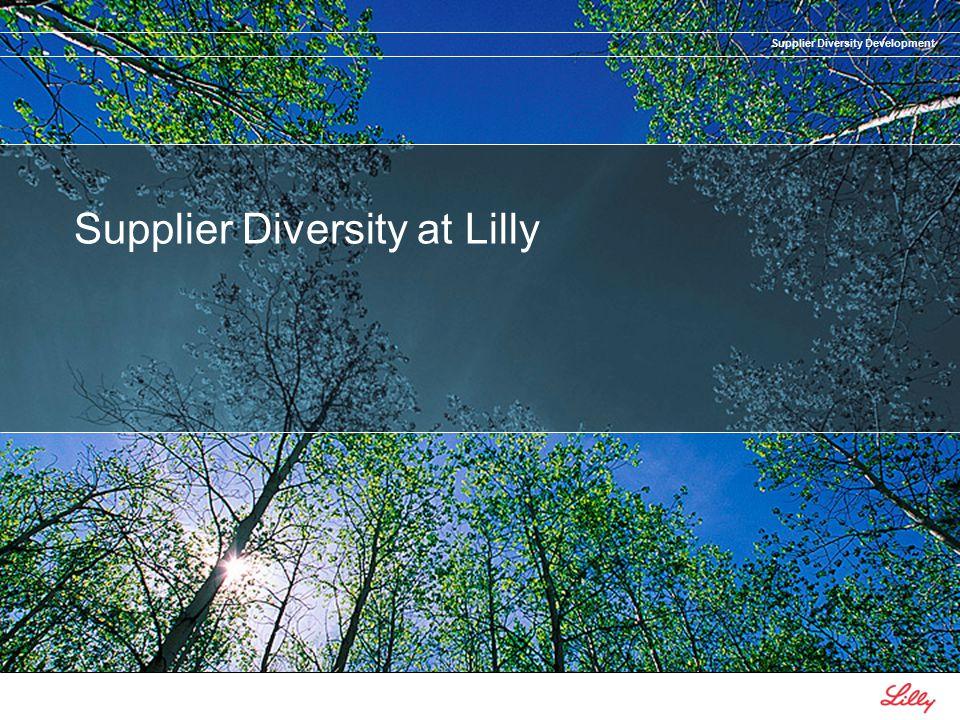 Supplier Diversity Development Supplier Diversity at Lilly