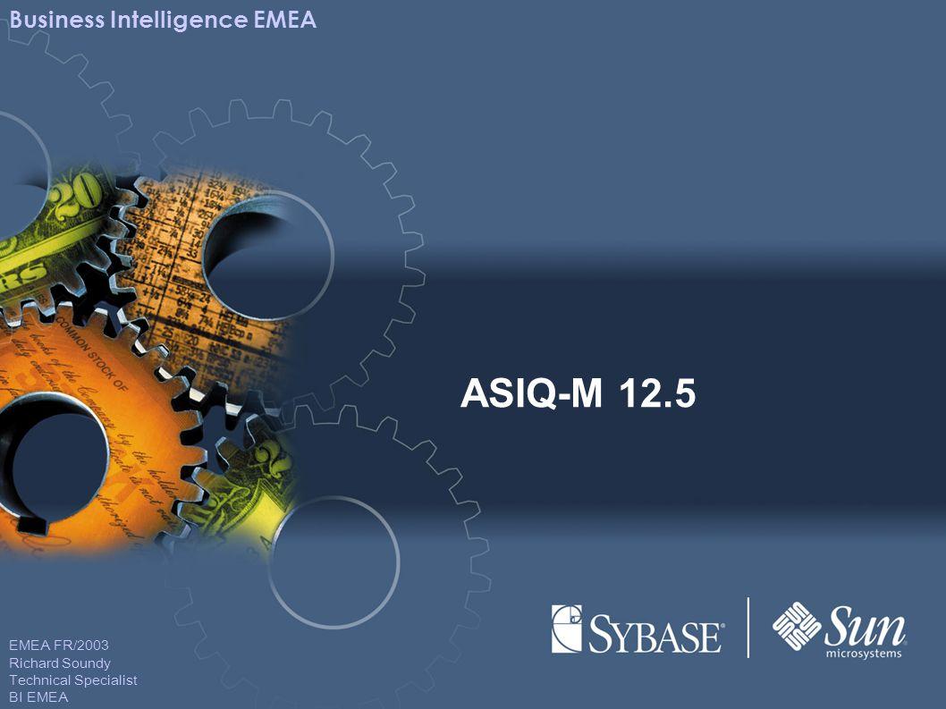 EMEA FR/2003 Richard Soundy Technical Specialist BI EMEA Business Intelligence EMEA ASIQ-M 12.5
