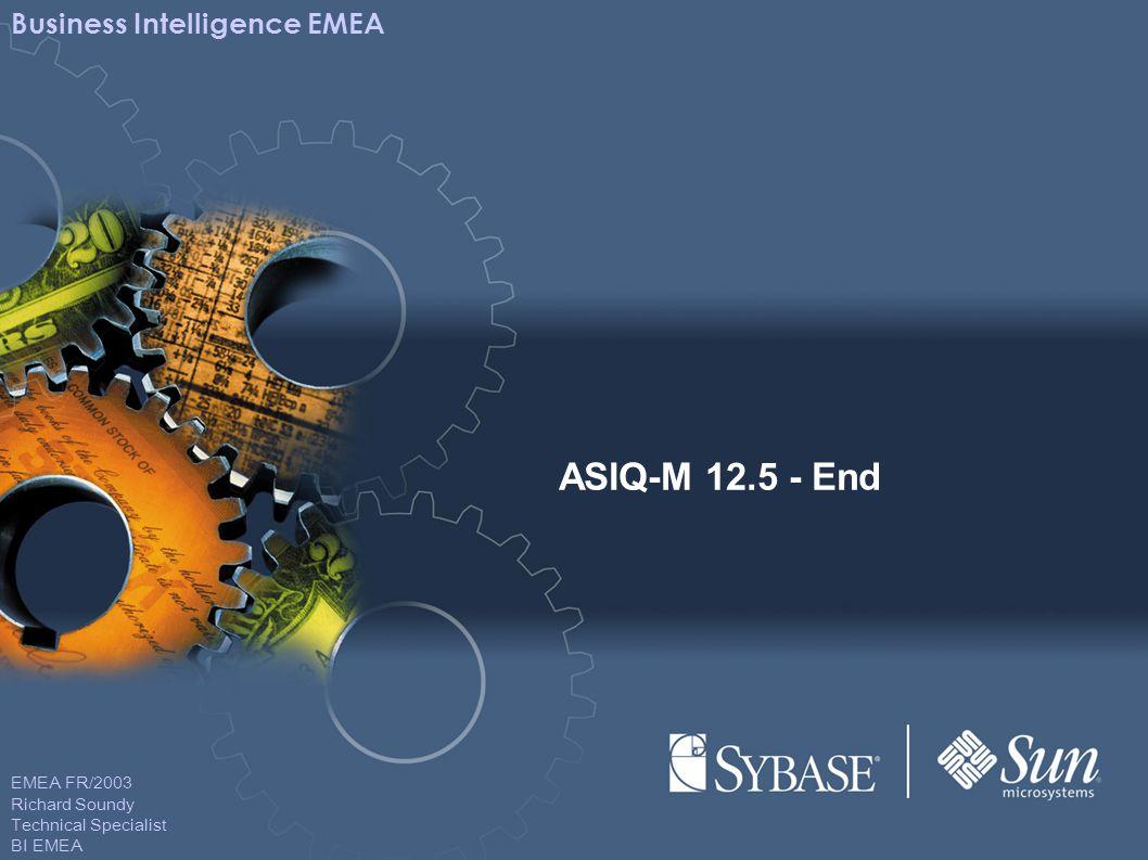 EMEA FR/2003 Richard Soundy Technical Specialist BI EMEA Business Intelligence EMEA ASIQ-M 12.5 - End