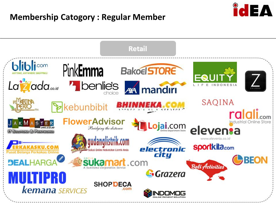 Membership Catogory : Regular Member Retail