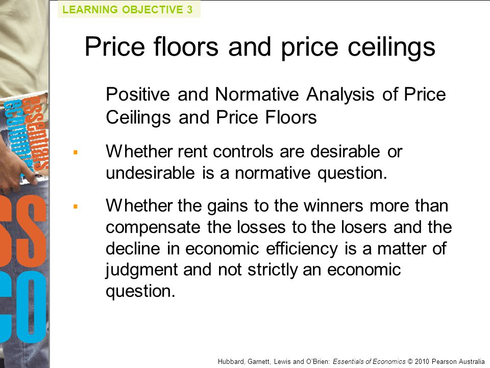 Hubbard, Garnett, Lewis and O'Brien: Essentials of Economics © 2010 Pearson Australia Positive and Normative Analysis of Price Ceilings and Price Floo
