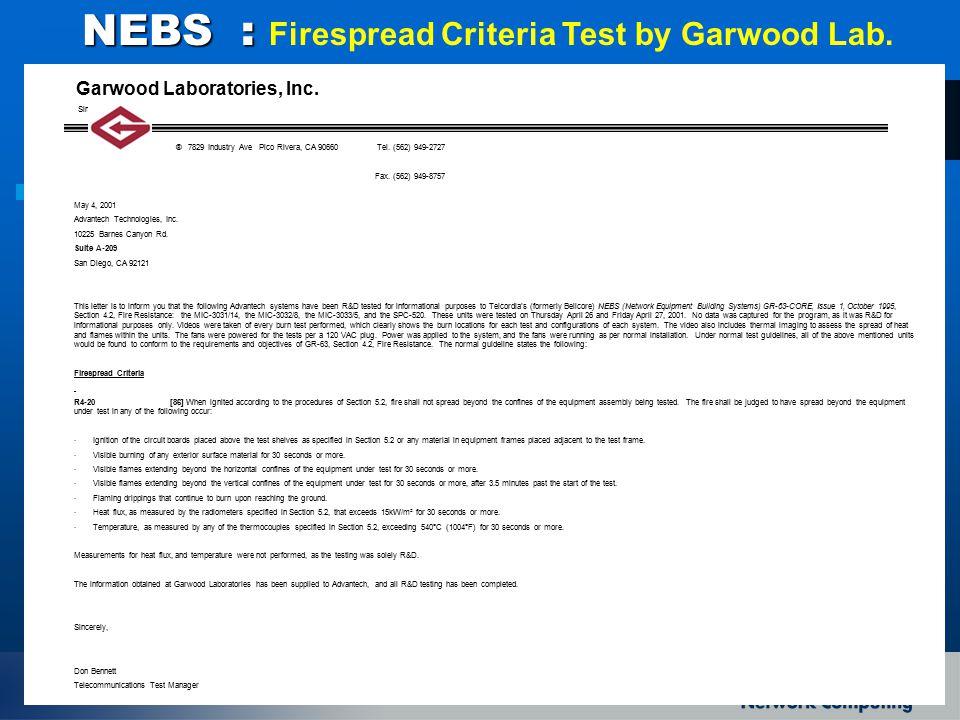 Garwood Laboratories, Inc.Since 1954 ® 7829 Industry Ave Pico Rivera, CA 90660 Tel.