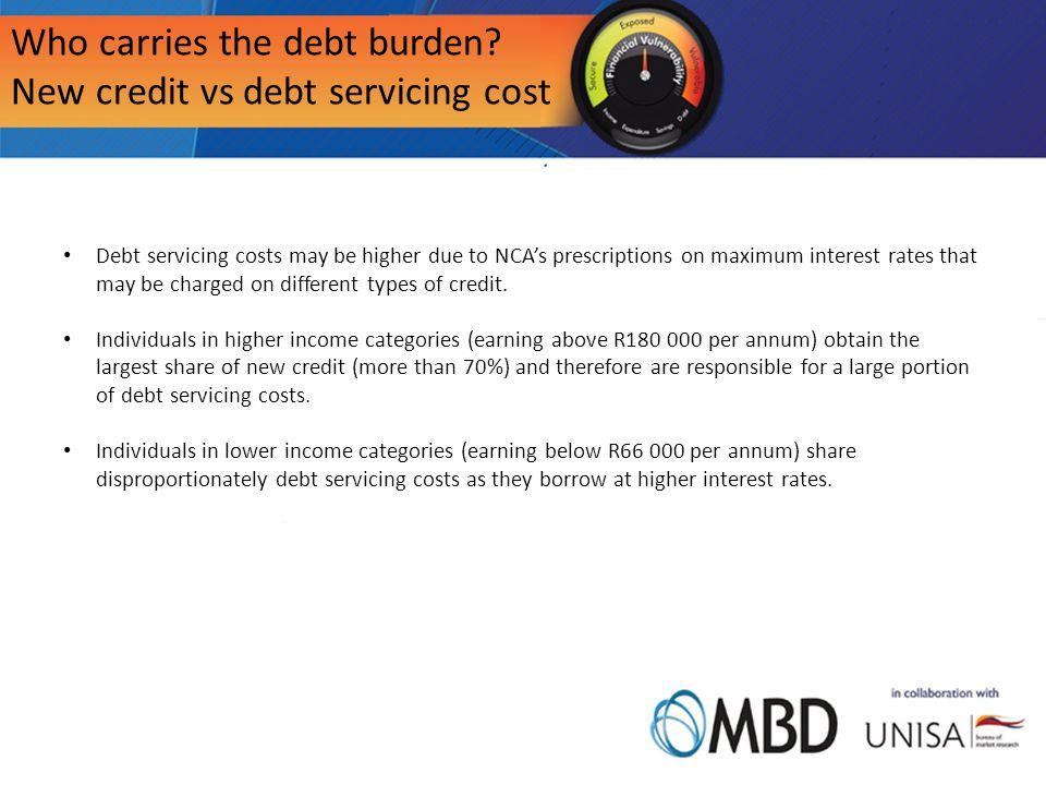 Who carries the debt burden.