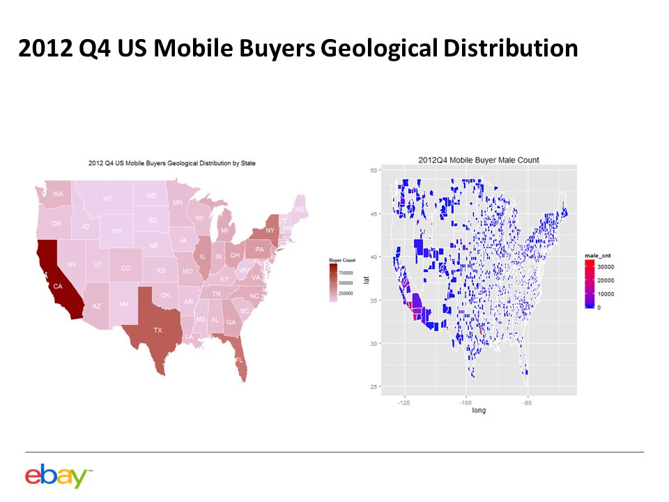 2012 Q4 US Mobile Buyers Geological Distribution