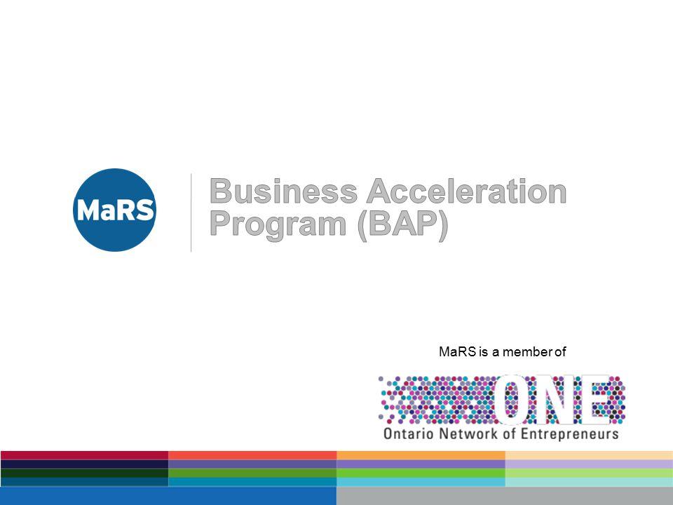 MaRS is a member of