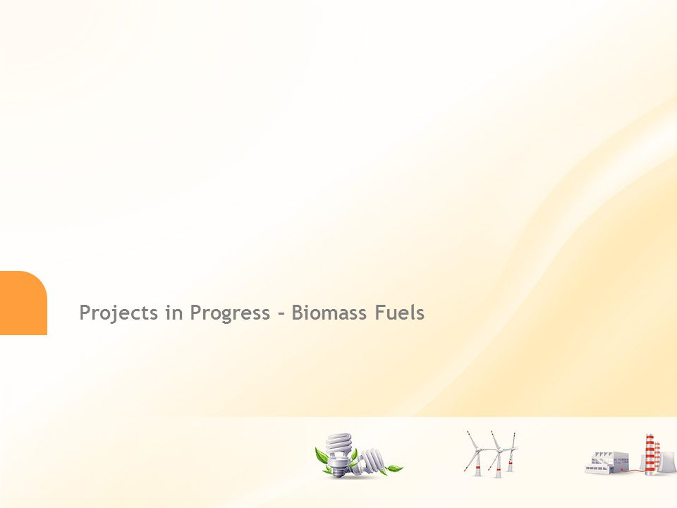 Długi tytuł prezentacji powerpoint 11 Projects in Progress – Biomass Fuels