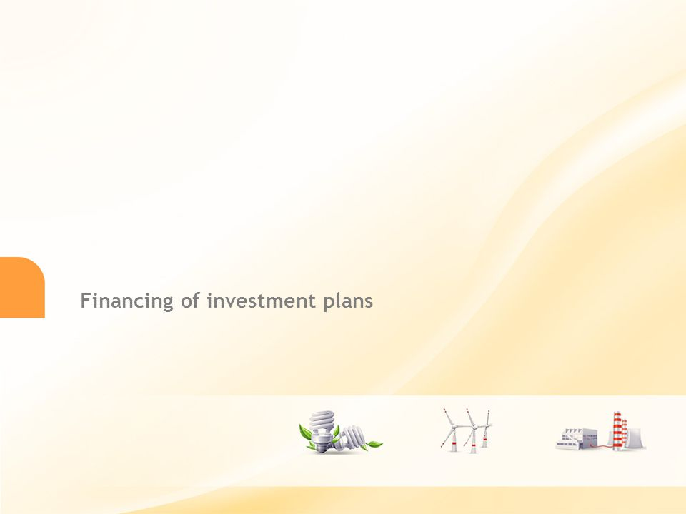 27 Financing of investment plans