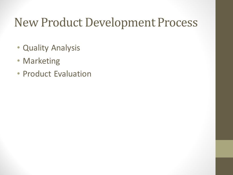 New Product Development Process Quality Analysis Marketing Product Evaluation