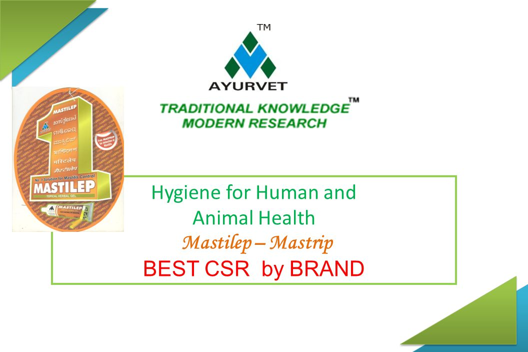 Hygiene for Human and Animal Health Mastilep – Mastrip BEST CSR by BRAND