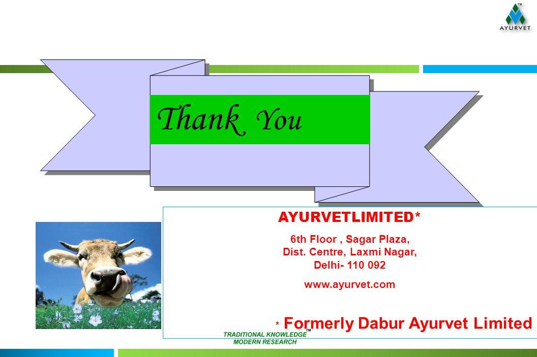 Thank You AYURVETLIMITED* 6th Floor, Sagar Plaza, Dist.