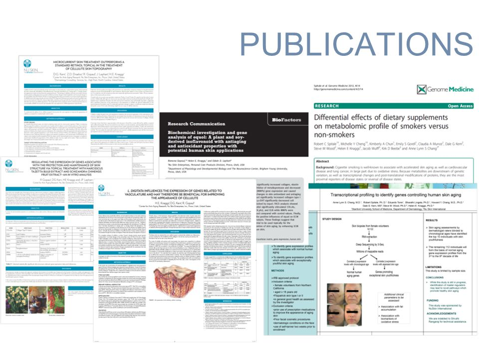PUBLICATIONS Anti- aging science Anti-Aging Science