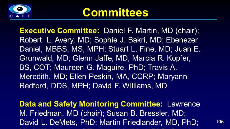 Committees 105 Executive Committee: Daniel F. Martin, MD (chair); Robert L. Avery, MD; Sophie J. Bakri, MD; Ebenezer Daniel, MBBS, MS, MPH; Stuart L.