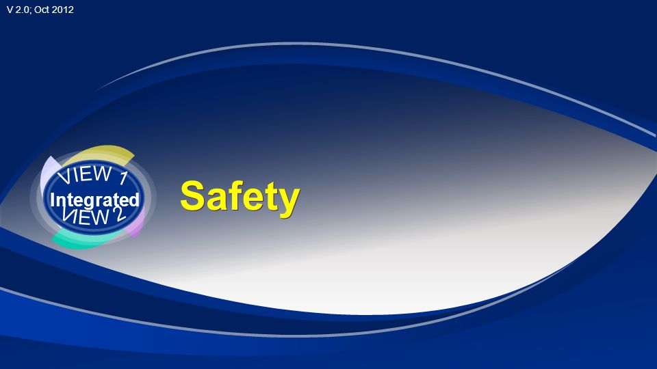V 2.0; Oct 2012 Safety VIEW 1 Integrated