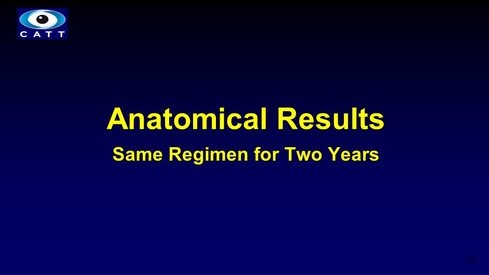 Anatomical Results Same Regimen for Two Years 69