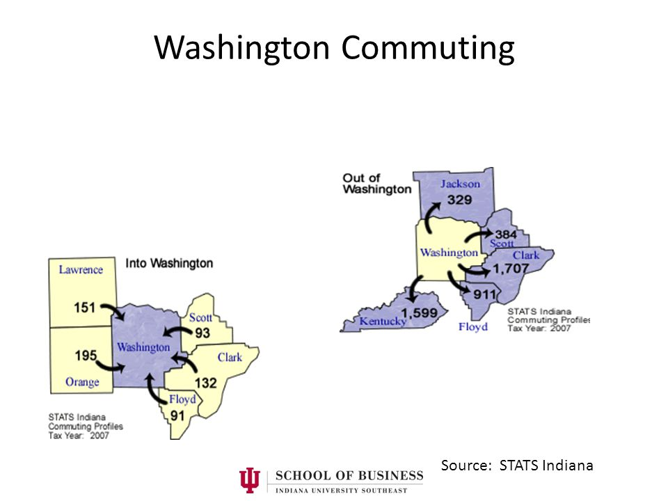 Washington Commuting Source: STATS Indiana