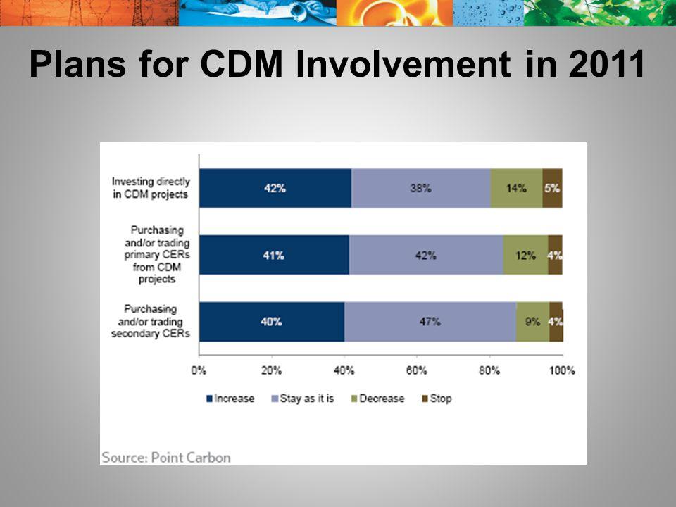 Plans for CDM Involvement in 2011