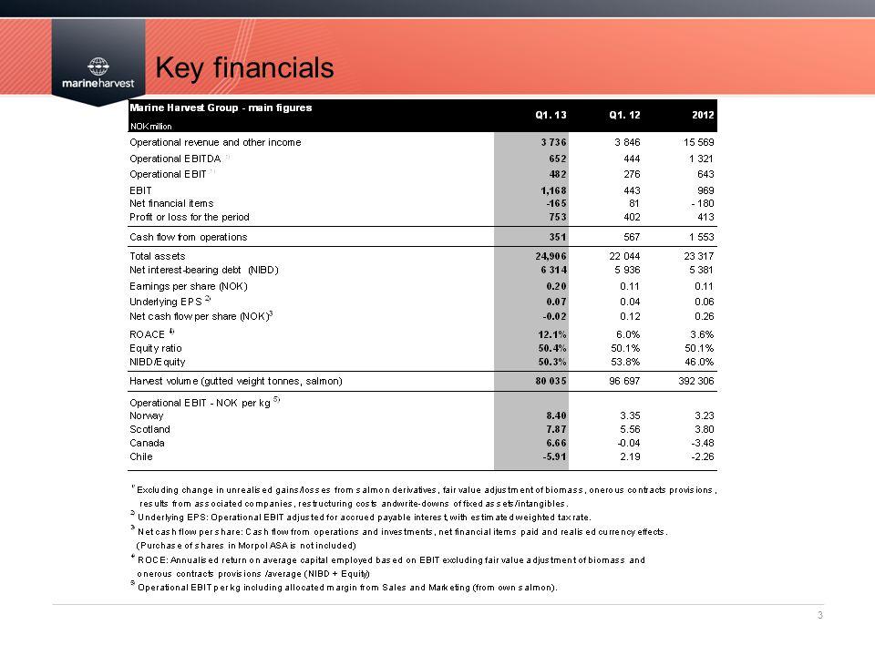 Key financials 3