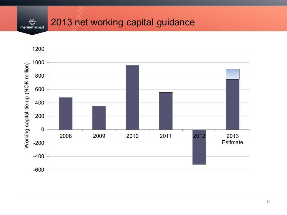 2013 net working capital guidance 34