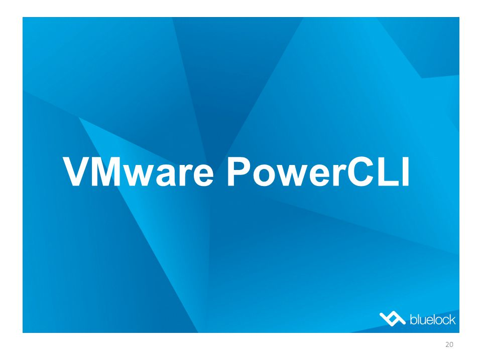 VMware PowerCLI 20