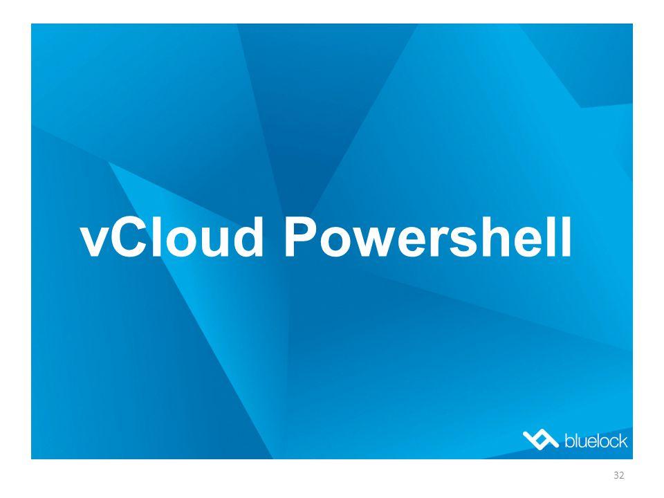 vCloud Powershell 32