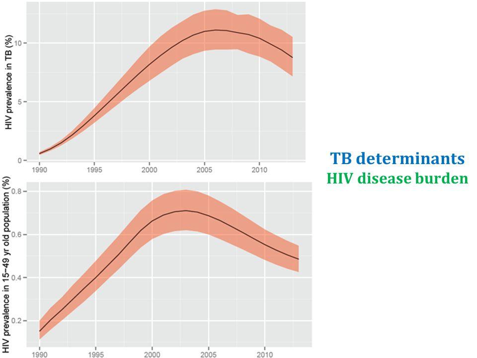 TB determinants HIV disease burden