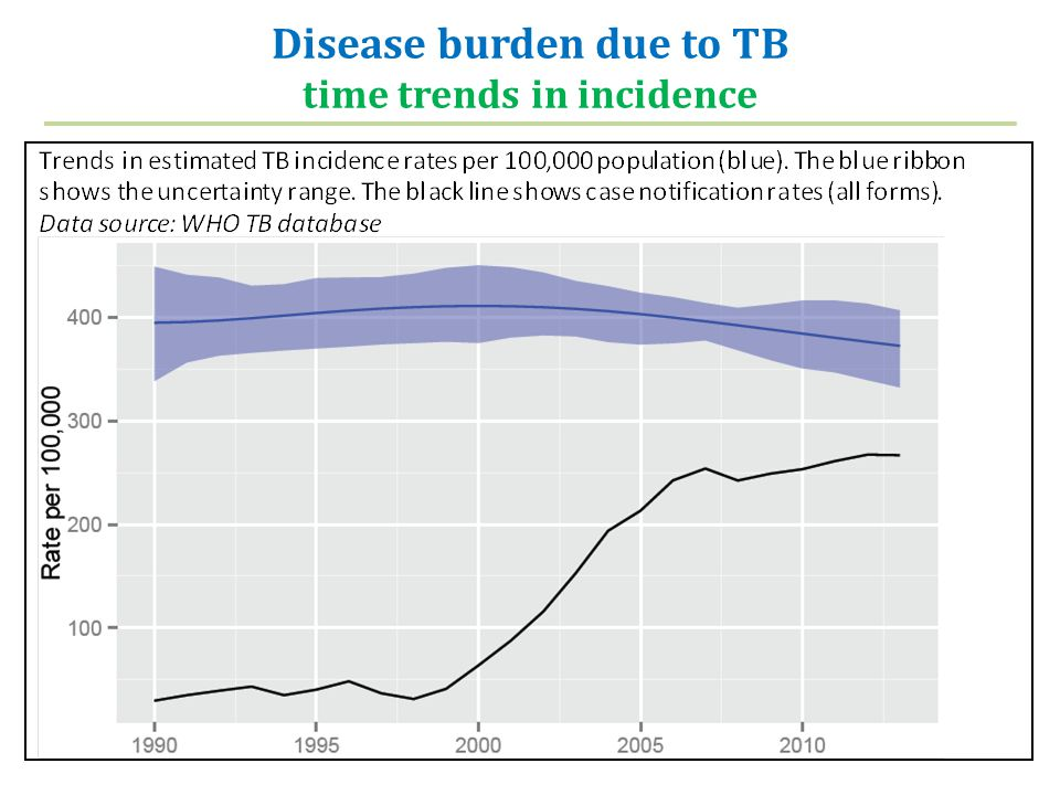 Disease burden due to TB time trends in incidence