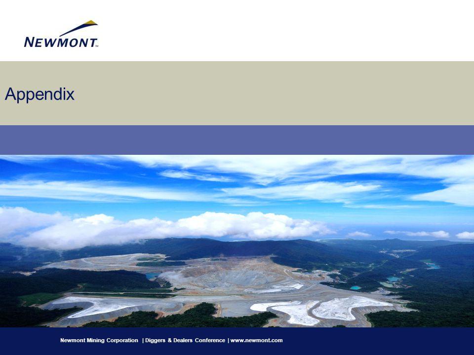 Appendix Newmont Mining Corporation | Diggers & Dealers Conference | www.newmont.com