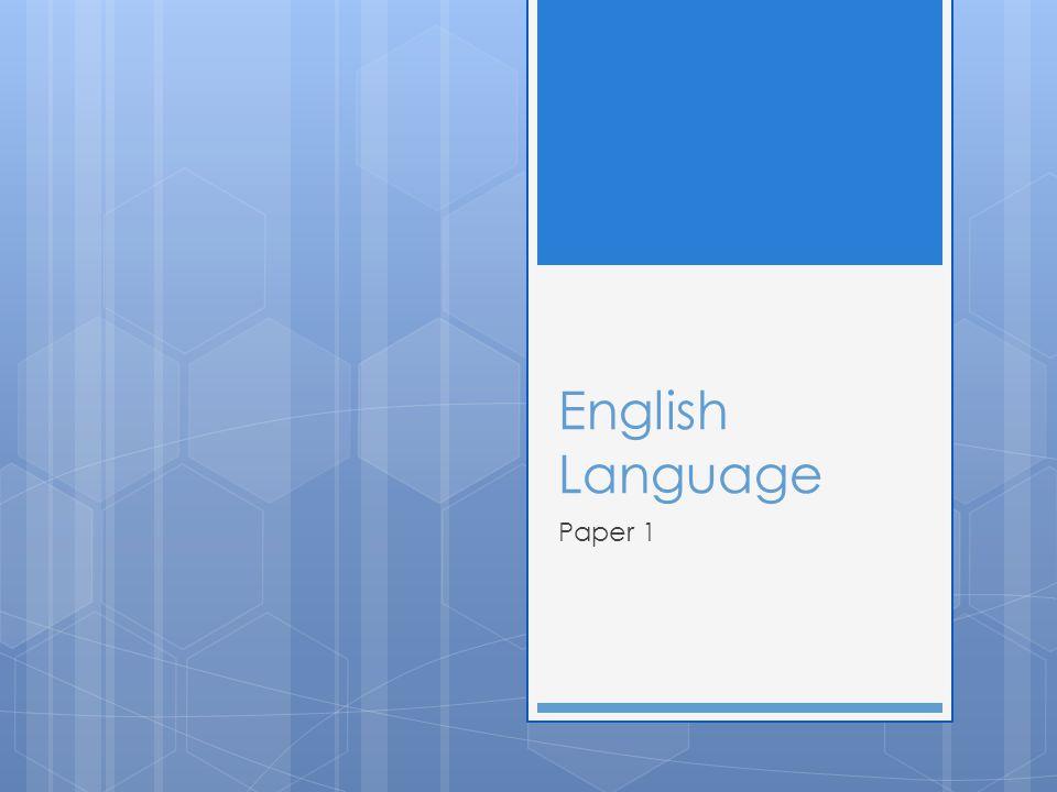 English Language Paper 1