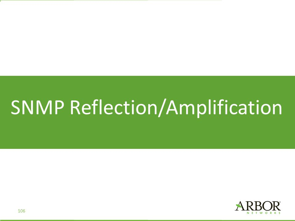 SNMP Reflection/Amplification 106