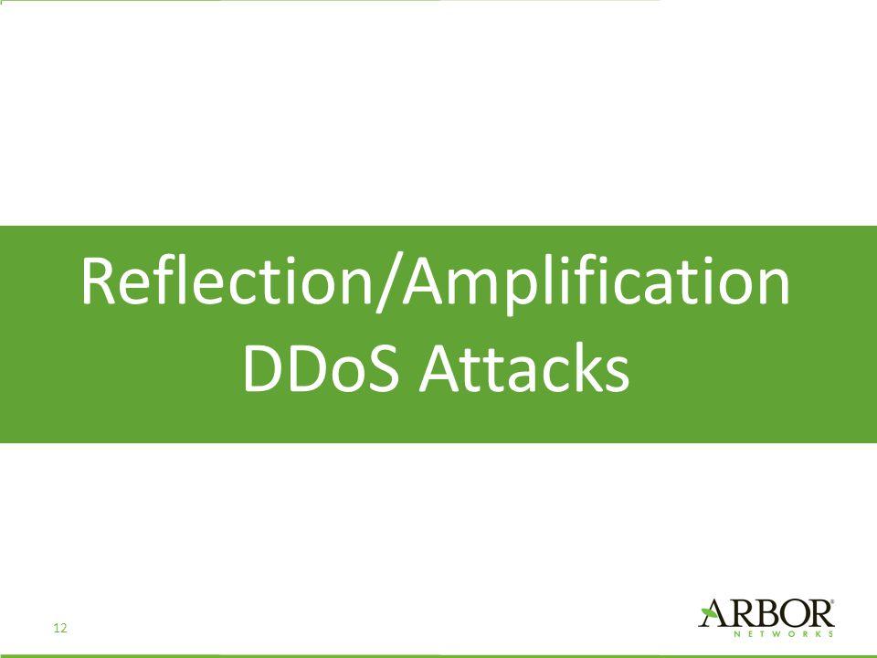 Reflection/Amplification DDoS Attacks 12