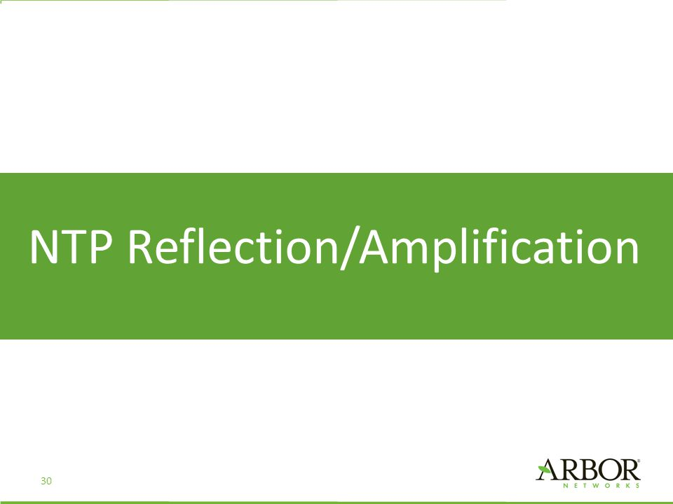 NTP Reflection/Amplification 30