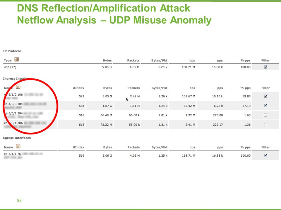 88 DNS Reflection/Amplification Attack Netflow Analysis – UDP Misuse Anomaly