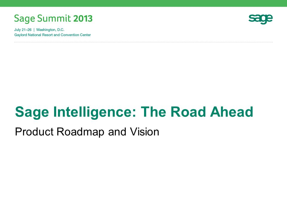 Cloud Reporting Sage Intelligence Go!