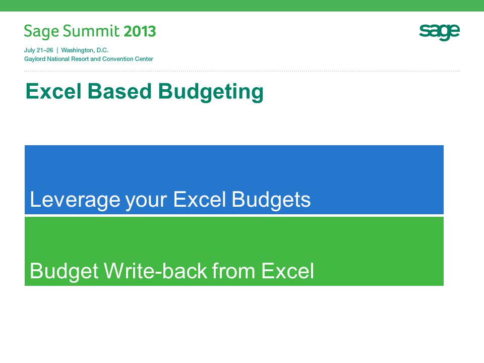 Financials Goal: Offer the strongest Excel Financial Reporting Solution for Sage ERPs Report DesignerFRx ConversionBudgeting ProductRelease Date Sage 100 ERPNow Sage 500 ERPNow.