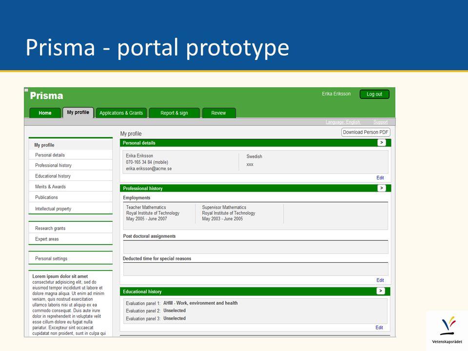 Prisma - portal prototype