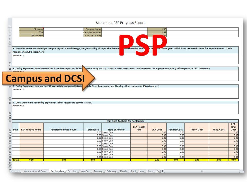 Campus and DCSI PSP