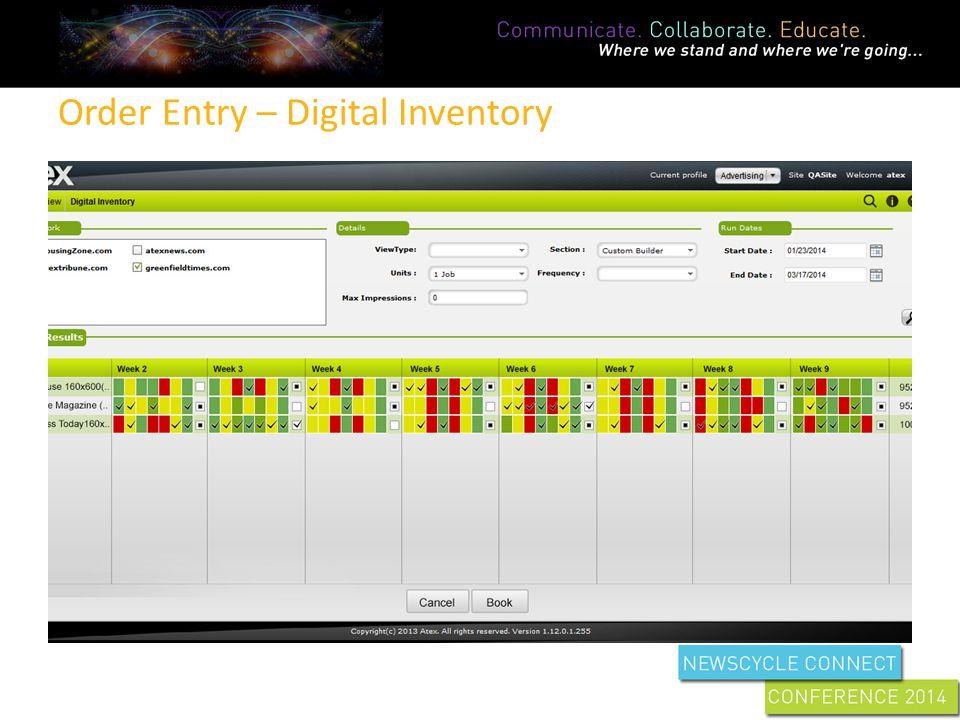Order Entry – Digital Inventory