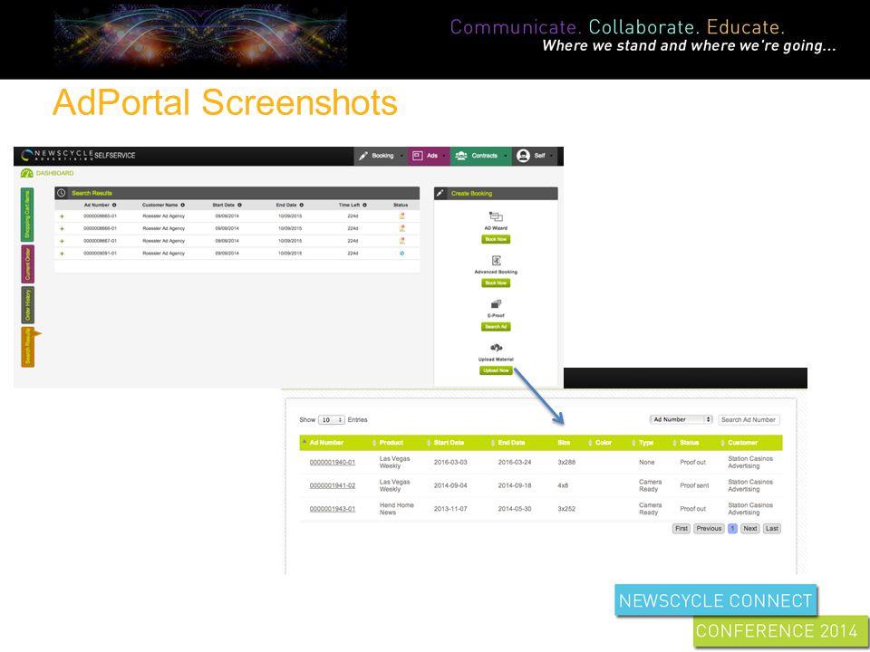 AdPortal Screenshots
