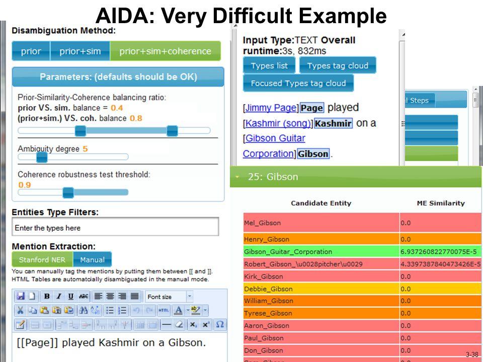 http://www.mpi-inf.mpg.de/yago-naga/aida/ AIDA: Very Difficult Example 3-38