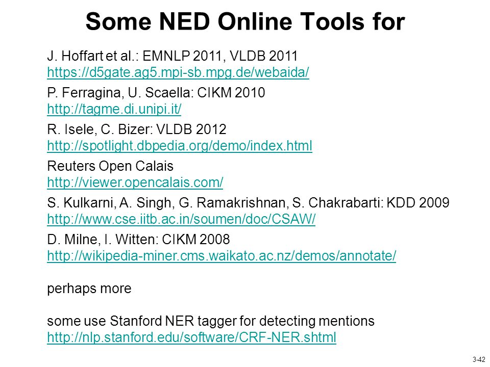Some NED Online Tools for J.