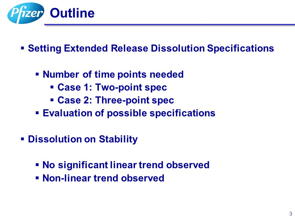 Dissolution on Stability – Non-linear Trend 24 Extended release product: with a clear non-linear trend for dissolution data at x hours