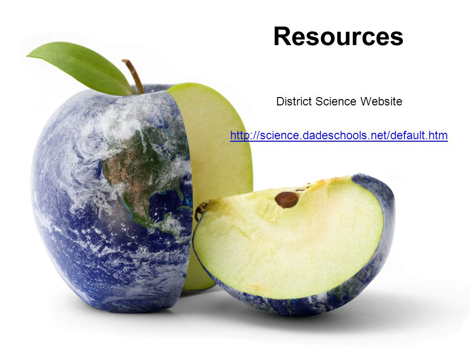 Resources District Science Website http://science.dadeschools.net/default.htm