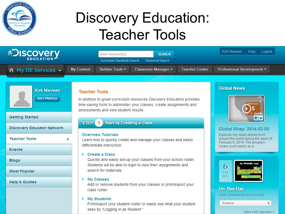 Discovery Education: Teacher Tools