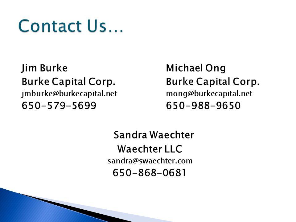 Jim BurkeMichael OngBurke Capital Corp.