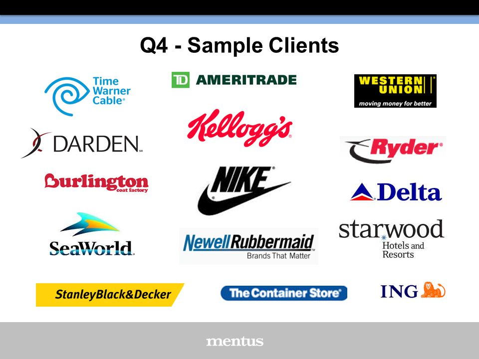 Q4 - Sample Clients
