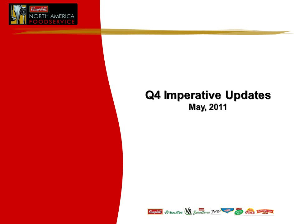 Q4 Imperative Updates May, 2011 Q4 Imperative Updates May, 2011